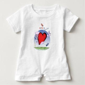 iowa head heart, tony fernandes baby bodysuit