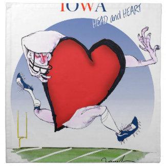 iowa head heart, tony fernandes napkin