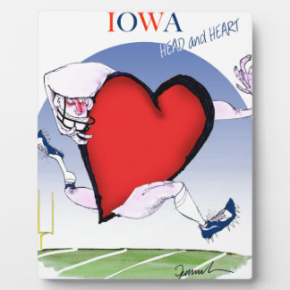 iowa head heart, tony fernandes plaque