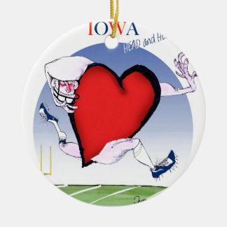 iowa head heart, tony fernandes round ceramic decoration
