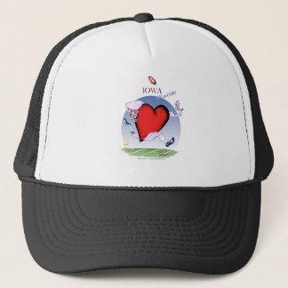 iowa head heart, tony fernandes trucker hat