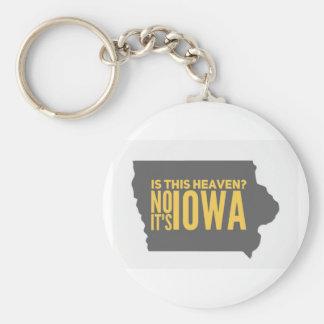 Iowa = Heaven Keychain