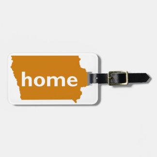 Iowa Home Luggage Tag
