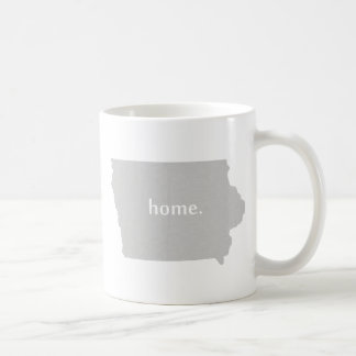 Iowa home silhouette state map basic white mug