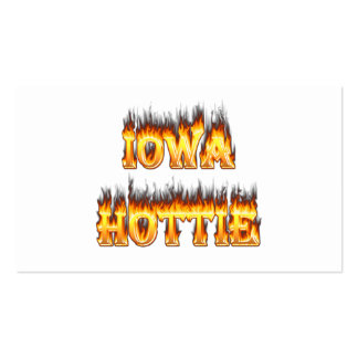Iowa hottie fire and flames pack of standard business cards