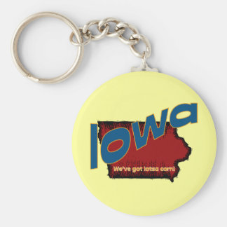 Iowa IA US Motto ~ We've Got Lotsa Corn Key Ring
