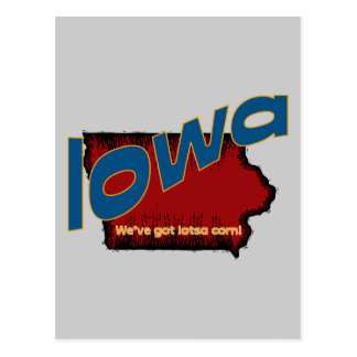 Iowa IA US Motto ~ We've Got Lotsa Corn Postcard