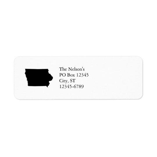Iowa in Black and White Return Address Label