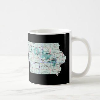 Iowa Interstate Map Coffee Mug