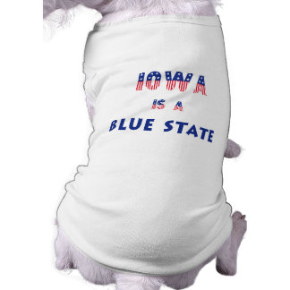 Iowa is a Blue State Dog Clothing