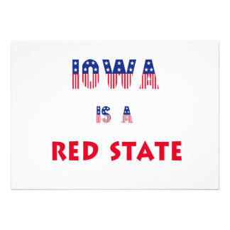 Iowa is a Red State Custom Announcement