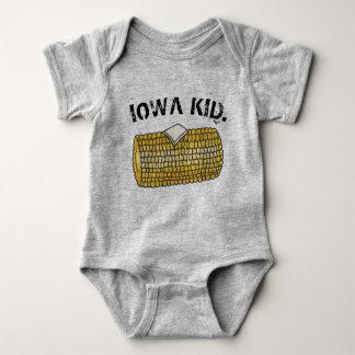 IOWA KID Yellow Buttered Corn on the Cob Baby Bodysuit