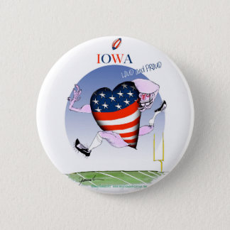 iowa loud and proud, tony fernandes 6 cm round badge