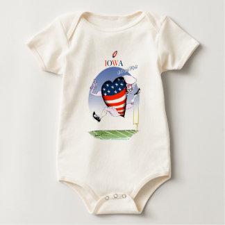 iowa loud and proud, tony fernandes baby bodysuit