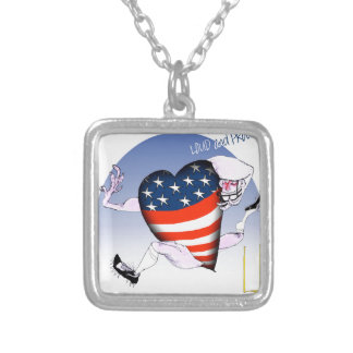 iowa loud and proud, tony fernandes silver plated necklace