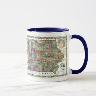 Iowa Map and State Flag Mug