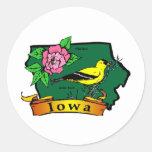 Iowa Map Classic Round Sticker