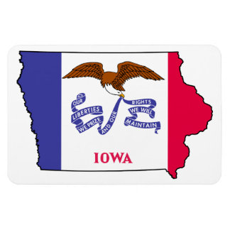 IOWA MAP RECTANGLE MAGNETS