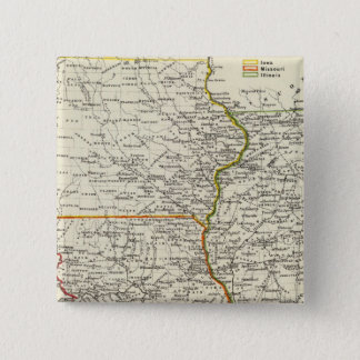 Iowa, Missouri, and Illinois 15 Cm Square Badge