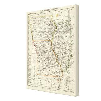 Iowa, Missouri, and Illinois Canvas Print