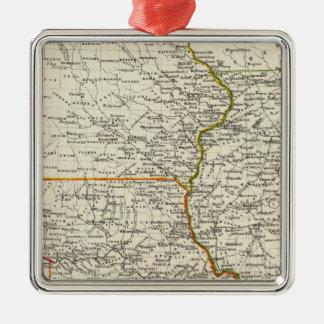 Iowa, Missouri, and Illinois Christmas Ornament