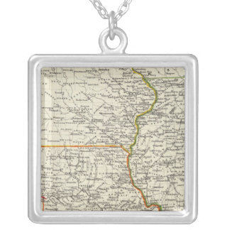 Iowa, Missouri, and Illinois Silver Plated Necklace