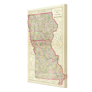 Iowa, Missouri Canvas Print