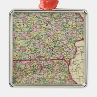 Iowa, Missouri Christmas Ornament
