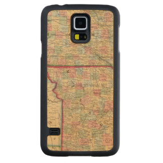 Iowa, Missouri Map by Mitchell Carved Maple Galaxy S5 Case