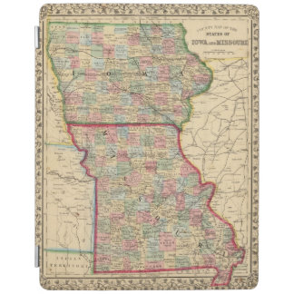Iowa, Missouri Map by Mitchell iPad Cover