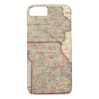 Iowa, Missouri Map by Mitchell iPhone 8/7 Case