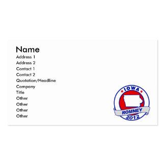 Iowa Mitt Romney Business Card Templates