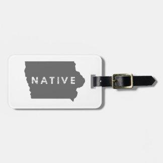 Iowa Native Luggage Tag