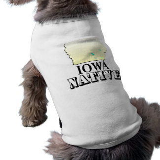 Iowa Native Sleeveless Dog Shirt