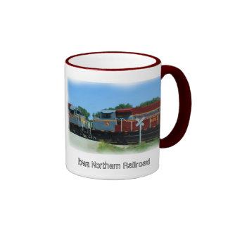 Iowa Northern Railroad Ringer Coffee Mug