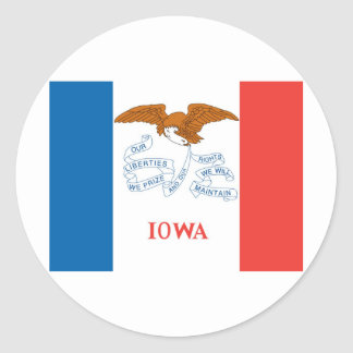Iowa  Official State Flag Classic Round Sticker