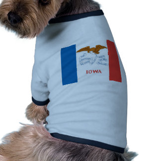 Iowa  Official State Flag Doggie Tshirt