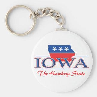 Iowa Patriotic Keychain