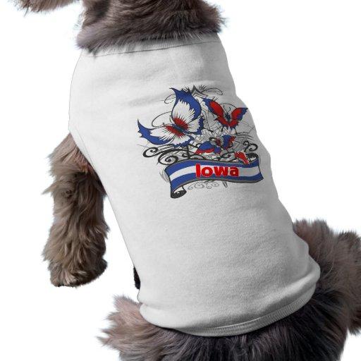 Iowa Patriotism Butterfly Pet Tee Shirt