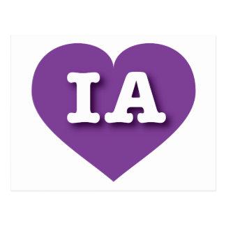 Iowa Purple Heart - Big Love Postcard