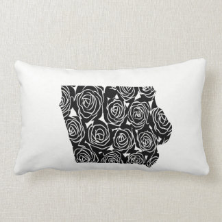 Iowa Rose Floral Pillow