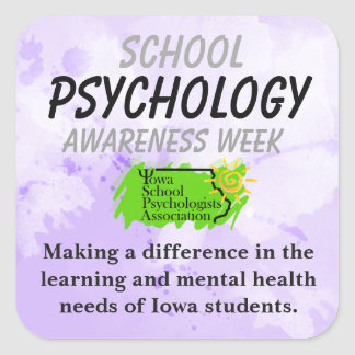 Iowa School Psychology Awareness Week Stickers