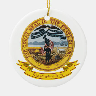 Iowa Seal Christmas Ornament