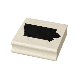 Iowa Solid Rubber Art Stamp