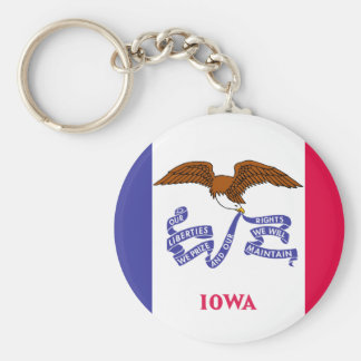 Iowa State Flag Key Ring