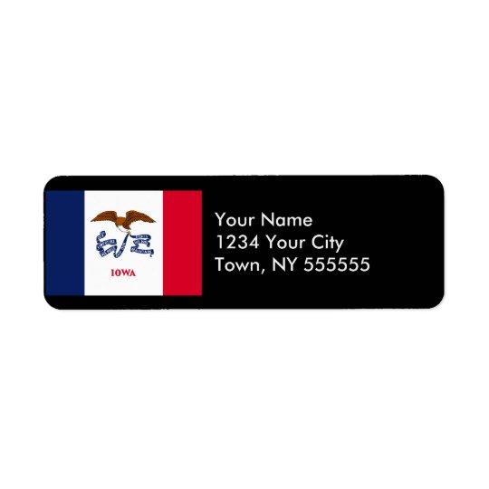Iowa State Flag Return Address Label