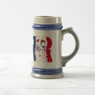Iowa state flag text beer stein