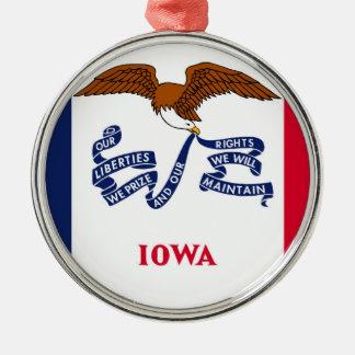 iowa state flag united america republic symbol christmas ornament