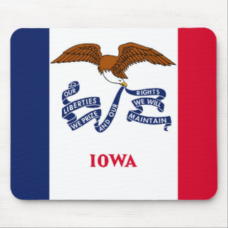 iowa state flag united america republic symbol mouse mat
