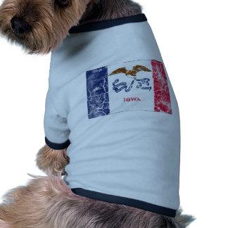 Iowa State Flag Vintage Dog Clothes